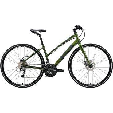 Дорожный велосипед Merida Crossway Urban 40-D Lady Fed 2017Женские<br>Merida Crossway Urban 40-D-Lady FED, в первую очередь, оценит женская аудитория. Благодаря удобной заниженной форме рамы, которая сделана из высокотехнологичного алюминия, ездить на нем максимально комфортно и безопасно. К тому же, велосипед оснащен вилкой Urban Rigid Al straight disc, что смягчает поездку по неровной дороге. Для дополнительного удобства высоту руля можно легко отрегулировать, а для дополнительного контроля установлены дисковые гидравлические тормоза Tektro TA, которые не подведут даже в плохую погоду.<br>Основное<br>Модельный год2017<br>Применениефитнес<br>Возрастная группавзрослый<br>Типженский<br><br><br>Рама и амортизация<br><br>Материал рамыалюминий<br>Амортизациябез амортизации<br><br><br>Колеса и тормоза<br>Диаметр колес28 <br>Модель покрышекCross<br>Материал ободаалюминий / Merida D /<br>Ободдвойной<br>Передний тормоздисковый гидравлический / Tektro TA, ротор 160 мм /<br>Задний тормоздисковый гидравлический / Tektro TA, ротор 160 мм /<br>Руль и трансмиссия<br>Скоростей27 шт<br>Звёзд системы3 / шатун: SR Suntour XCM, 48-36-26Т /<br>Звёзд кассеты9<br>Модель кассетыSunrace<br>Передний переключательShimano Altus / M371 /<br>Задний переключательShimano Altus<br>Тип манеткитриггерные<br>Модель манеткиShimano Altus<br>Форма руляпрямой<br>ВыносMerida Comp 15<br>Модель руляMerida Comp / длина - 660 мм /<br><br><br>Общее<br>Комплектациящиток на цепь<br>Модель сиденьяCross Lady<br>Вес13.1 кг<br>