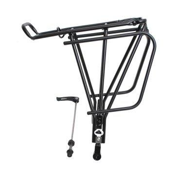 Велобагажник алюминий Ostand CD-251QR 24-29, регулируемый, для вело с дисковым тормозом, 6-251Багажники для велосипеда<br>NEW <br>Производитель Ostand <br>Модель багажник задний CD-251QR <br>Материал Алюминий <br>Описание Задний багажник на колеса 24-29, для велосипедов с дисковым тормозом, регулируемый, с прижимной пружиной, усиленный (до 25 кг). Крепление под эксцентрик. Расстояние между стойками - 13,5 см. Крепеж в комплекте. <br>Цвет черный <br>Артикул 6-251<br>