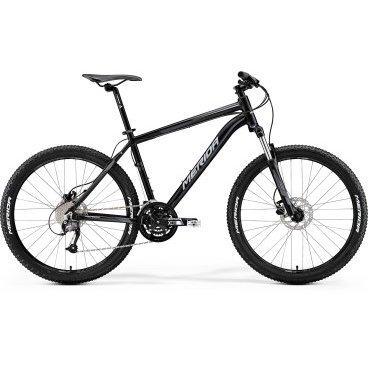 Горный велосипед Merida Matts 6.40-D 2017Горные (MTB)<br>Горный велосипед с оборудованием любительского класса Shimano, 27 скоростей. Технические особенности: алюминиевая рама Matts Speed OV, амортизационная вилка SR Suntour 26 XCT-HLO, двойные обода Merida Matts D, дисковые гидравлические тормоза Tektro MA hydraulic. Подходит для активной езды по различным дорогам и пересеченной местности. Диаметр колес - 26 дюймов. Вес - 15 кг.<br>Основное<br>Модельный год2017<br>Применениегорный (MTB)<br>горный (кросс-кантри)<br>Возрастная группавзрослый<br>Типмужской<br><br><br>Рама и амортизация<br><br>Материал рамыалюминий / 6061 /<br>Амортизацияпередняя вилка<br>Тип амортизации (вилка)пружинно-масляная / SR Suntour XCT HLO /<br>Ход вилки100 мм<br>Локаут вилки / гидравлический /<br><br><br>Колеса и тормоза<br>Диаметр колес26 <br>Модель покрышекMerida Sport / 2.1 /<br>Материал ободаалюминий / Merida Matts D /<br>Ободдвойной<br>Передний тормоздисковый гидравлический / Tektro MA, ротор 160 мм /<br>Задний тормоздисковый гидравлический / Tektro MA, ротор 160 мм /<br>Руль и трансмиссия<br>Скоростей27 шт<br>Звёзд системы3 / шатун: SR Suntour XCM, 44-32-22Т /<br>Звёзд кассеты9<br>Модель кассетыSunrace CS<br>Передний переключательShimano Altus<br>Задний переключательShimano Altus<br>Тип манеткитриггерные<br>Модель манеткиShimano Altus<br>Форма руляпрямой<br>ВыносMerida Comp OS<br>Модель руляMerida Comp OS R15 / длина - 660 мм /<br><br><br>Общее<br>Комплектациящиток на цепь<br>Модель сиденьяMerida Sport 5<br>Модель цепиKMC X9<br>Вес15 кг<br>