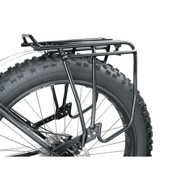 Велобагажник Uni Super Tourist FAT TOPEAK, для Фетбайков с дисковыми тормозами, черный, TA2052-BБагажники для велосипеда<br>Багажник Topeak Uni Super Tourist FAT предназначена исключительно для Fat Bikes с дисковыми тормозами. Ножки стойки могут регулироваться в соответствии с большинством 24 и 26 колес Fat Bikes. Это прочный трубчатый багажник идеально подходит для путешествий, поездок на работу или выполнения курьерских поручений в городе. Крепление MTX QuickTrack ™ совместимо с любой задней сумкой Topeak MTX TrunkBag, корзиной с креплением MTX и большинством других сумок и корзин на рынке. Не совместим с несимметричными задними треугольниками рам.<br><br>Материал 6061 T-6 полый алюминиевый<br>Совместимость с сумками MTX QuickTrack™ System<br>Максимальная нагрузка: 30 кг<br>Размеры (Д х Ш х В): 43 x 34 x 29 cm<br>Вес: 1265 г<br>