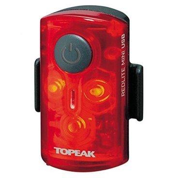 Задний габаритный фонарь с зарядкой TOPEAK RedLite Mini USB, TMS078Фары и фонари для велосипеда<br>Задний габаритный фонарь с зарядкой от USB (пластик)<br>