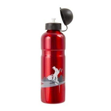 Фляга 5-340295 алюминий 0Фляги и Флягодержатели<br>алюминиевая, с защитным колпачком, 0,75л, блистер<br>Доступные цвета: красный, синий, черный<br>