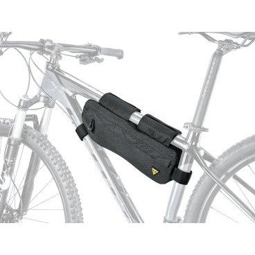 Велосумка для путешествий TOPEAK MidLoader, 3.0 L, с креплением на раме, черная, TBP-ML1BВелосумки<br>Крутые велосипедные путешествия требуют, чтобы вы везли все необходимые инструменты и снаряжение, чтобы не оказаться застрявшими в середине дороги. Разработанный для использования подрамного пространства, MidLoader несет самые тяжелые предметы для вашего велосипедного приключения. Сшитый из легких, водостойких и прочных материалов, он быстро монтируется и снимается с помощью липучек. Две водонепроницаемые молнии обеспечивают легкий доступ ко всему вашему снаряжению с обеих сторон.<br><br>Параметры:<br>Крепление: липучки<br>Материал: Polyethylene / nylon Lightweight, durable, water repellent and stain resistant<br>Диаметр вергней трубы рамы для установки: ?45 - ?66 мм<br>Диаметр нижней трубы рамы для установки: ?38 - ?70 мм<br>Диаметр подседельной трубы рамы для установки: ?28 - ?60 мм<br>Объем: 3 л<br>Габариты (ДxШxВ): 37.5 x 12 x 6 cm<br>Вес: 277 гр<br>