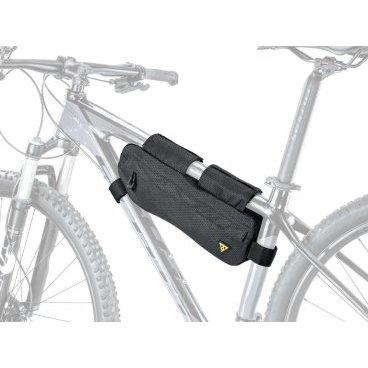 Велосумка TOPEAK MidLoader, 4.5 L, для путешествий, с креплением на раме, черный, TBP-ML2BВелосумки<br>Крутые велосипедные путешествия требуют, чтобы вы везли все необходимые инструменты и снаряжение, чтобы не оказаться застрявшими в середине дороги. Разработанный для использования подрамного пространства, MidLoader несет самые тяжелые предметы для вашего велосипедного приключения. Сшитый из легких, водостойких и прочных материалов, он быстро монтируется и снимается с помощью липучек. Две водонепроницаемые молнии обеспечивают легкий доступ ко всему вашему снаряжению с обеих сторон.<br><br>Крепление: липучки<br>Материал: Polyethylene / nylon Lightweight, durable, water repellent and stain resistant<br>Диаметр вергней трубы рамы для установки: ?45 - ?66 мм<br>Диаметр нижней трубы рамы для установки: ?38 - ?70 мм<br>Диаметр подседельной трубы рамы для установки: ?28 - ?60 мм<br>Объем: 4.5 л<br>Габариты (ДxШxВ): 46 x 12 x 6 cm<br>Вес: 292 гр<br>