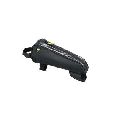 Велосумка TOPEAK FastFuel Tribag, на верхнюю трубу рамы, для триатлона, черная, TC2301BВелосумки<br>Прочная тонкая верхняя сумка, которая дает велосипедистам быстрый и легкий доступ к энергетическим батончикам и гелям, смартфону, кошельку, инструментам или чему-угодно небольшого размера, в чём они нуждаются в ближайшем доступе.<br><br>Крепление: регулируемые нейлоновые стрепы<br>Материал: 600 denier polyester, TPU clear top cover<br>Диаметр верхней трубы рамы для установки: ?38 - ?52 мм<br>Диаметр рулевой трубы рамы для установки: ?53 - ?75 мм<br>Объем: 0,6 л<br>Габариты (ДxШxВ): 24 x 8.5 x 5.5 cm<br>Вес: 145 гр<br>
