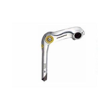 Вынос руля PROMAX MQ-536(EN-C), регулируемый, 180мм х 22,2мм х 105мм х 25,4мм х 95-145*, серебристыйВыносы<br>Для комфортного и эффективного передвижения на велосипеде очень важно, насколько правильно настроены все его элементы. Ключевые параметры, которые необходимо учитывать – это форма и конструкция рамы, высота сиденья над уровнем педалей, величина и вынос руля.<br><br>Официальное название закрепления рулевой детали к вертикальной трубе вилки – рулевой кронштейн. Он представляет собой продолговатую деталь с фиксаторами с обеих сторон: к штырю и рулю, соответственно.<br><br>Вынос определяет расстояние, на котором располагается руль, от корпуса велосипедиста. Чем он больше, тем дальше придется тянуться до ручек, и наоборот. Длина индивидуальна как для велосипедиста, так и самого байка, поэтому нельзя однозначно сказать, какой именно она должна быть.<br><br>Кроме удаленности от центра велосипеда, кронштейн позволяет изменять угол расположения руля<br><br><br>Характеристика:<br><br>Регулируемый<br>Совместим с рулями - 22,2 мм и 25,4мм диаметров<br>1-1/8<br>Высота 180 мм<br>Серебристый<br>