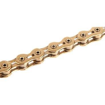 Цепь КМС K710SL, 1 скорость, 1/2x1/8Х100, золотая, суперлёгкая, самоочищающаяся, K710SLВелосипедная цепь<br>КМС Цепь K710SL, 1 скорость, 1/2x1/8Х100, золотая, в торг.уп. Суперлёгкая, самоочищающаяся, полые пины, низкое растяжение, повышенная прочность, защита от спадания цепи.<br>