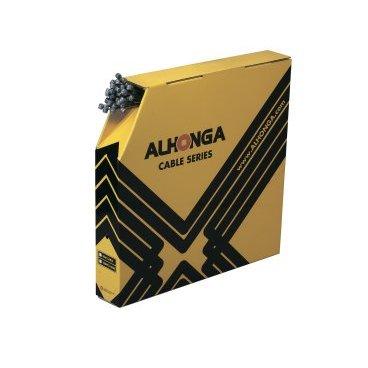 Трос тормоза ALHONGA, 1.5х2100мм, головка 7х6мм, сталь, гальванизированный, 100 шт, No.98 7X6Тросики и Рубашки<br>Alhonga Трос тормоза 1,5х2100мм, головка 7х6мм, нержавеющая сталь, гальванизированный, 100 шт. в коробке<br>