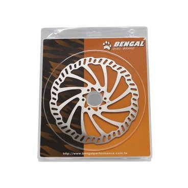 Диск тормозной BENGAL OD-180LGR, 180мм, с болтами в блистере, OD180LGRТормоза на велосипед<br>Bengal диск тормозной od-180lgr 180мм с болтами в блистере<br>