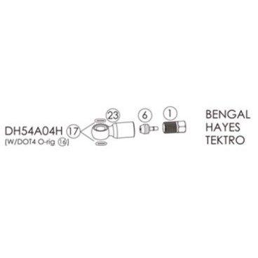 Фиттинги и переходники BENGAL для гидролиний BENGAL, HAYES в блистере, DH54A04HТормоза на велосипед<br>Bengal Фиттинги и переходники для гидролиний Bengal, HAYES в блистере.<br>