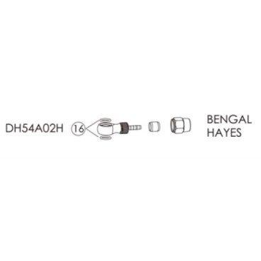 Фиттинги и переходники BENGAL для гидролиний BENGAL, HAYES в блистере, DH54A02HТормоза на велосипед<br>Bengal Фиттинги и переходники для гидролиний Bengal, HAYES в блистере.<br>