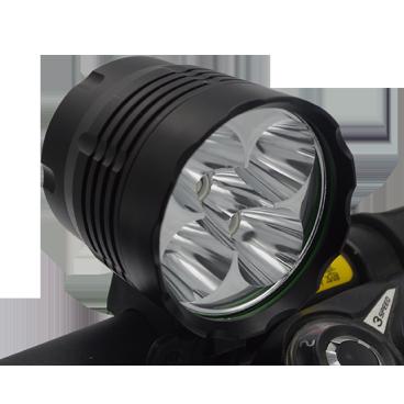 Фара велосипедная передняя, 4 светодиода, макс. 2500 лм, время работы: 3 ~ 12ч, 3 режима, EBL-304Фары и фонари для велосипеда<br>фара передняя EBL-304 4 светодиода Cree XM-L макс. 2500 лм  время работы: 3 ~ 12ч 3 режима 100% - 25% - мигающий  корпус: ал. T6061 размеры: L55 x D48ммвес без аккумулятора: 157гаккумулятор: 6cell*1500mAh 18650 li-ion / 8,4vвлагозащита: IPX6.<br>