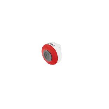 Фонарь велосипедный Silva Light TYTO, красный, 37301-2Фары и фонари для велосипеда<br>Очень компактный и водонепроницаемый фонарь. <br>Этот фонарь можно присоединить к повязке, куртке, велосипеду, рюкзаку и еще много к чему.<br>2 режима: постоянный свет и мигающий.<br>Универсальное крепление, стропа , велкро<br>Тип батареи: 2x CR2032<br>Тип лампы: 3x LED<br>Примерное время работы в режиме мигания: 100ч<br>Примерное время работы в режиме постоянного света: 24ч<br>Влагозащищенность: IPX6<br>Вес: 12гр<br>