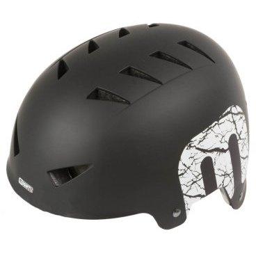 Шлем MIGHTY универсальный/ВМХ/FREESTYLE, 14 отверстий, ABS, 54-58 см,  матово-черный, 5-731220Велошлемы<br>Шлем универсальный/ВМХ/FREESTYLE 14 отверстий,ABS-суперпрочный, 54-58см матово-черный MIGHTY.<br>Тип изделия - велошлемы<br>Универсальный - MTB/BMX/Street - подходит для всех видов street- деятельности (велосипед, ролики, скейтборд,…) , <br>14 отверстий,<br> высокопрочный ABS-пластик, <br>регулируемая система застежки с удобным креплением и надежной фиксацией шлема на голове, <br>сменные анибактериальные прокладки,<br> 483г, регулируемый, <br>матово-черный (дизайн SKYLINE ),<br>