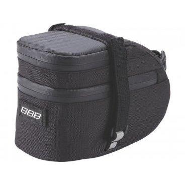 Велосумка BBB EasyPack, L 750 см3, черная, BSB-31LВелосумки<br>Подседельная сумка <br><br>-для хранения мелочей и инструментов, которые пригодятся во время коротких прогулок <br>-стреп для крепления заднего фонаря<br>-светоотражающая полоса для лучшей видимости велосипедиста в темноте<br>-сумка просто устанавливается и снимается.Ремешок для дополнительного крепления за подседельный штырь на липучке<br>-объём: 750 см3<br>-размер L<br>