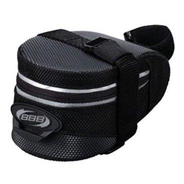 Велосумка BBB EasyPack, S, черная, BSB-31SВелосумки<br>Подседельная сумка <br><br>-для хранения мелочей и инструментов, которые пригодятся во время коротких прогулок <br>-стреп для крепления заднего фонаря<br>-светоотражающая полоса для лучшей видимости велосипедиста в темноте<br>-сумка просто устанавливается и снимается.Ремешок для дополнительного крепления за подседельный штырь на липучке<br>