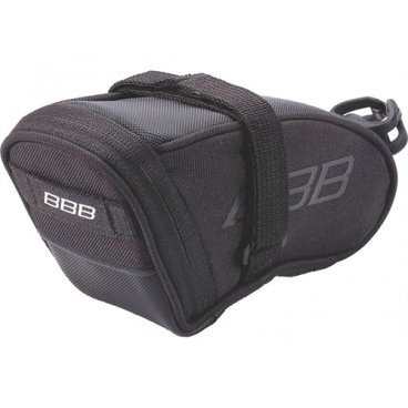 Велосумка BBB SpeedPack, L 690 см. куб, черная, BSB-33LВелосумки<br>Высокотехнологичная подседельная сумка для оптимального и наиболее естественного расположения под седлом. <br><br>-Синяя подкладка для лучшей видимости содержимого<br>-Молния с фиксатором для дополнительной безопасности и абсолютно бесшумная при езде <br>-Крепление для заднего габарита-LED фонарика <br>-Черная светоотражающая полоска для лучшей видимости <br>-Двойная застежка на липучке для простой и быстрой установки/снятия<br>-Объем 690 см. куб<br>