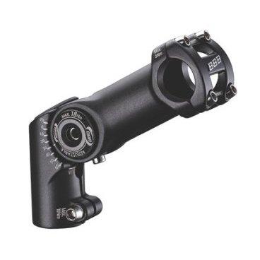 Вынос регулируемый BBB HighFix, 120 мм, 25.4, черный, BHS-34Выносы<br>Регулируемый -10/+60 градусов.<br><br>Высокий угол для комфортной езды и улучшенный контроль рулевого управления.<br><br>Алюминий 6061 T6.<br><br>Для непосредственного крепления на рулевую трубу, 28,6 мм.<br><br>Для стандартного руля (треккинг).<br><br>Отверстие: 25,4 мм.<br><br>Болты из нержавеющей стали.<br><br>Расширение: 120 мм.<br><br>Вес: 283 грамм<br>