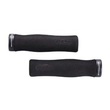 Грипсы велосипедные BBB LightFix, 130 мм, черный, BHG-19Ручки и Рога<br>Блокирующиеся ручки с алюминиевыми защелками облегченной установки.<br><br>Суперлегкий материал с пеной эргономичной<br><br>формы. Гасит удары и вибрацию.<br><br>Винтовое крепление предотвращает проскальзывание руля.<br><br>Две заглушки в комплекте.<br><br>Длина: 130 мм.<br>