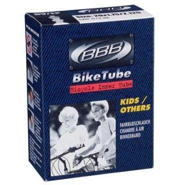 Камера BBB 20*1,75-2,125, велониппель, BTI-21Камеры для велосипеда<br>Размер колеса: 20<br><br>Велониппель  33 мм<br><br>Камеры BBB изготовлены из долговечного резинового компаунда. Никаких швов, которые могут пропускать воздух. Толщина стенки: 0.87 мм. Достаточно большая для защиты от проколов и достаточно небольшая для снижения веса.<br>
