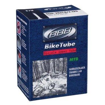 Камера BBB, 26*1,9-2,30, спортниппель, BTI-63Камеры для велосипеда<br>Размер колеса: 26<br><br>Велониппель (Presta) 33 мм<br><br>Камеры BBB изготовлены из долговечного резинового компаунда. Никаких швов, которые могут пропускать воздух. Толщина стенки: 0.87 мм. Достаточно большая для защиты от проколов и достаточно небольшая для снижения веса.<br>