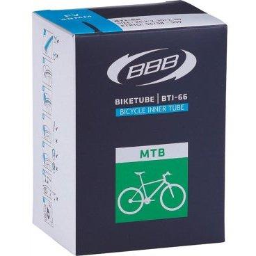 Камера BBB, 27.5*2,10/2.35, спортниппель, BTI-68Камеры для велосипеда<br>Камеры BBB изготовлены из долговечного материала с применением «бесшовной» технологии, так что исключено пропускание воздуха. Толщина стенки камеры достаточно большая для защиты от проколов и достаточно небольшая для снижения веса.<br>Ниппель 48 мм<br><br>- Сечение 2,1-2.35<br>- Вид товара велокамера<br>- Ниппель вело<br>- Размер 27.5<br>