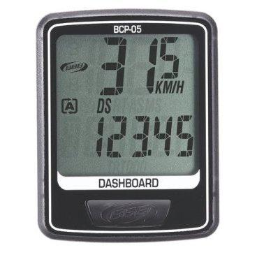 Компьютер BBB DashBoard 7 functions проводной черный/серый, BCP-05Велокомпьютеры<br>Велокомпьютер DashBoard стал, в своем роде, образцом для подражания. Появившись в линейке в 2006 году как простой и небольшой велокомпьютер с большим и легкочитаемым экраном, он эволюционировал в любимый прибор велосипедистов, которым нужна простая в использовании вещь без тысячи лишних функций. Когда пришло время обновить DashBoard, мы поставили во главу угла именно простоту дизайна и использования, в то же время, выведя оба этих параметра на новый уровень. Общий размер велокомпьютера уменьшился за счет верхней части корпуса. Но сам размер экрана остался без изменений - 32 на 32мм, позволяющие легко считывать информацию. Управление одной кнопкой также было сохранено в новой версии. Упрощение конструкции осзначает также меньшее количество швов и лучшую влагозащиту. Так что, DashBoard стал лучше, но остался тем же самым верным другом и помочником, что и был.<br><br>Особенности:<br><br>- Проводной компьютер с 7 функциями:<br>- Текущая скорость<br>- Расстояние поездки<br>- Одометр<br>- Часы<br>- Автоматический переход функций<br>- Авто старт/стоп<br>- Индикатор низкого заряда батареи<br>- Легко читаемый полноразмерный дисплей.<br>- Удобное управление с помощью одной кнопки.<br>- Компьютер может быть установлен на руле и выносе.<br>- Водонепроницаемый корпус.<br>- Батарейка в комплекте.<br>