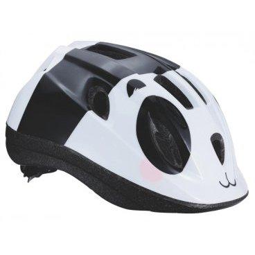 Велошлем BBB Boogy, детский, рисунок панда, черно-белый, M (52-56 см), BHE-37Велошлемы<br>12 вентиляционных отверстий. <br><br>Задние вентиляционные отверстия для оптимального воздушного потока. <br><br>Сетка - защищает от насекомых. <br><br>Регулируемые ремни для совершенной и удобной посадки. <br><br>Легкая регулировка TwistClose системы, можно регулировать одной рукой. <br><br>Моющиеся антибактериальные колодки. <br><br>Светоотражающие наклейки сзади. <br><br>M (52-56 см)<br>