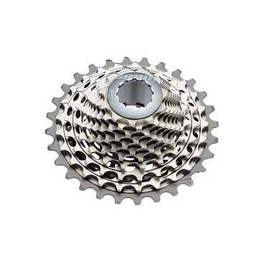 Кассета велосипедная Sram XG-1190, 11-25T, 11 скоростей, 00.2418.067.000Кассеты<br>Кассета SRAM X- Glide 1190 выполнена на цельной стальной основе, что делает её самой жёсткой и самой лёгкой во всех группах SRAM. Технология PowerdomeX - полая конструкция из высококачественной закалённой стали с фрезерованными зубцами и специальными вырезами для снижения веса и увеличения жесткости. Благодаря этой технологии кассета имеет огромный запас прочности и эстетически приятный дизайн. По краям кассеты расположены лёгкие алюминиевые звёзды. Для снижения вибраций и шума во время катания SRAM использовали эластомеры StealthRing™. Технология X- Glide гарантирует мягкое и лёгкое переключение на всём диапазоне кассеты.<br><br>Характеристики:<br><br>Для 11-скоростной трансмиссии<br>Необходимо иметь втулку, совместимую с 11-скоростными кассетами и учитывать ёмкость заднего переключателя<br>Полая конструкция из высококачественной закалённой стали с фрезерованными зубцами и специальными вырезами для снижения веса и увеличения жесткости<br>Лёгкие алюминиевые звёзды по краям<br>Эластомерные кольца StealthRing™ для гладкого и тихого катания<br>Рекомендованная цепь: SRAM RED 22, SRAM PC-1170<br>Вес: 151 грамм<br>