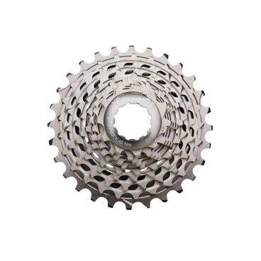 Кассета велосипедная Sram XG-1190, 11-28T, 11 скоростей, 00.2418.067.002Кассеты<br>Кассета SRAM X- Glide 1190 выполнена на цельной стальной основе, что делает её самой жёсткой и самой лёгкой во всех группах SRAM. Технология PowerdomeX - полая конструкция из высококачественной закалённой стали с фрезерованными зубцами и специальными вырезами для снижения веса и увеличения жесткости. Благодаря этой технологии кассета имеет огромный запас прочности и эстетически приятный дизайн. По краям кассеты расположены лёгкие алюминиевые звёзды. Для снижения вибраций и шума во время катания SRAM использовали эластомеры StealthRing™. Технология X- Glide гарантирует мягкое и лёгкое переключение на всём диапазоне кассеты.<br><br>Характеристики:<br><br>Для 11-скоростной трансмиссии<br>Необходимо иметь втулку, совместимую с 11-скоростными кассетами и учитывать ёмкость заднего переключателя<br>Полая конструкция из высококачественной закалённой стали с фрезерованными зубцами и специальными вырезами для снижения веса и увеличения жесткости<br>Лёгкие алюминиевые звёзды по краям<br>Эластомерные кольца StealthRing™ для гладкого и тихого катания<br>Рекомендованная цепь: SRAM RED 22, SRAM PC-1170<br>Вес: 151 грамм<br>