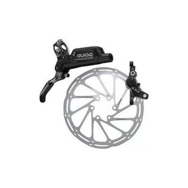 Тормоз велосипедный передний Sram Guide R Gloss Black Front, 950mm, 00.5018.100.000Тормоза на велосипед<br>Четырехпоршневая система обеспечивает вам контроль и отличное торможение.<br><br>Weight390g<br>Lever MaterialAluminum<br>Caliper Design4-piston, dual diameter caliper<br>RotorCenterline<br>PadSteel-backed Organic<br>FluidDOT 5.1<br>MountAmbidextrous<br>Special FeaturesTool-free Reach Adjust, Piggyback Reservoir, MatchMaker X compatible<br>Technology Highlight(s)DIrectLink™, PURE™ Bladder, Timing Port Closure<br>MaterialForged Aluminum<br>Pad / HolderTop-loading<br><br><br>Краткие характеристики <br>Год выпуска2016<br>Общий брендSRAM<br>Передний/заднийПередние<br>Тип тормозаДисковый гидравлический<br>НазначениеMTB<br>