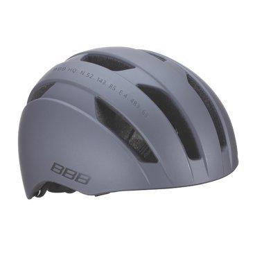 Велошлем BBB Metro, BMX, матовый темный/серый, L (56-61 cм), BHE-55Велошлемы<br>Катание по городу тоже требует надёжной защиты, но, само собой, хотелось бы при этом ещё и отлично выглядеть. Шлем Metro с 10 вентиляционными отверстиями сохранит вашу голову в комфорте и безопасности. И выглядит просто отлично.<br><br>Особенности:<br><br>- Интегрированная конструкция.<br>- 10 вентиляционных отверстий.<br>- Отверстия для вентиляции в задней части шлема для оптимального распределения потоков воздуха.<br>- Настраиваемые ремешки для максимально комфортной посадки.<br>- Простая в использовании система настройки TwistClose, можно настроить шлем одной рукой.<br>- Съемные мягкие накладки с антибактериальными свойствами и возможностью стирки.<br>- Размер:  L (56-61 cм).<br>