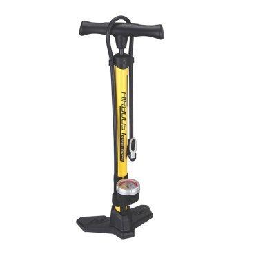 Насос велосипедный BBB AirBoost, напольный, сталь, желтый, BFP-21Велосипедный насос<br>Компактный напольный насос. Давление до 9bar/130psi<br><br>Особенности:<br><br>- Точный манометр отображает давление как в bar, так и в psi.<br>- Эргономичная ручка-бумеранг. Естественный хват для увеличенной мощности.<br>- Стальной корпус общей длиной 62 cм.<br>- Насадка DualHead с фиксатором под большой палец.<br>- Прочное и устойчивое композитное основание.<br>