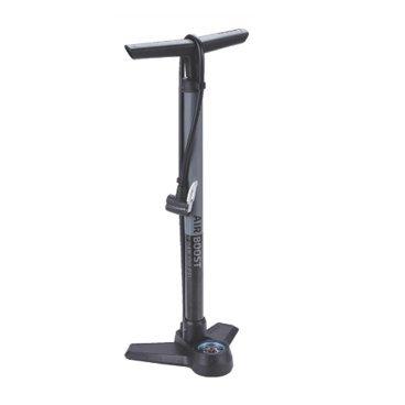 Насос велосипедный BBB AirBoost, напольный, сталь, серый, BFP-21Велосипедный насос<br>Компактный напольный насос. Давление до 9bar/130psi<br><br>Особенности:<br><br>- Точный манометр отображает давление как в bar, так и в psi.<br>- Эргономичная ручка-бумеранг. Естественный хват для увеличенной мощности.<br>- Стальной корпус общей длиной 62 cм.<br>- Насадка DualHead с фиксатором под большой палец.<br>- Прочное и устойчивое композитное основание.<br>