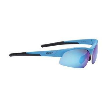 Очки BBB Impress Small  PC, сменные линзы желтые+прозрачные, мешочек, синий, BSG-48Велоочки<br>Солнцезащитные очки<br><br>-для людей с меньшим размером головы<br>-сменные поликарбонатные линзы<br>-Форма линз обеспечивает защиту от солнца, пыли и ветра<br>-100% защита от ультрафиолета<br>-Поликарбонатная оправа с регулируемой переносицей<br>-Мешочек для хранения в комплекте<br>-Дополнительные линзы в комплекте: желтая и прозрачная<br>