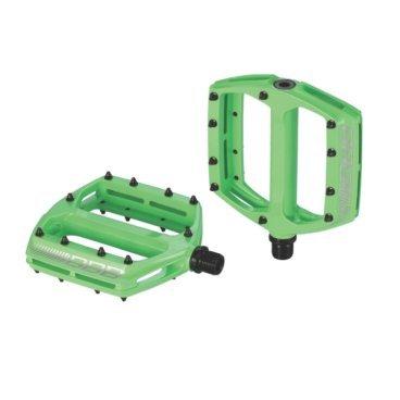 Педали велосипедные BBB CoolRide, МТБ, ось Cr-Mo, алюминий, зеленые, 495г, BPD-36Педали для велосипедов<br>- Большая площадь опоры обеспечивает надежное сцепление и контроль.<br>- Монолитный алюминиевый корпус.<br>- Ось из хроммолибденовой стали.<br>- Двойные закрытые подшипники.<br>- Сменные пины, 10 штук с каждой стороны.<br>