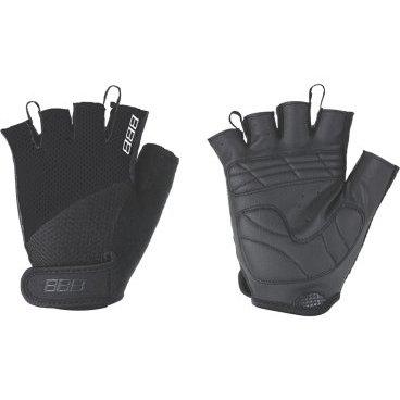 Перчатки велосипедные BBB Cooldown/Chase, унисекс, размер L, гелевые вставки, черный, BBW-49Велоперчатки<br>Легкие летние перчатки  для спортивного катания на горных велосипедах<br><br>-тыльная сторона изготовлена из сетчатого материала <br>-на ладони - искусственная кожа Serino с мягкими гелевыми вставками, гасящими вибрации от руля<br>-на запястьях перчатки фиксируются застежками велькро (система WristLock)<br>-между пальцами предусмотрены специальные петли, чтобы быстро снять перчатки <br>-в области большого пальца есть специальная вставка для стирания пота и влаги<br><br><br>Ширина лодони: 98 мм<br>Длина среднего пальца: 25 мм.<br>