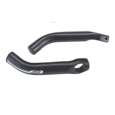 Рога для велосипеда BBB LightCurved, 150 мм, алюминий, черный, 134 г, BBE-18Ручки и Рога<br>Сделаны из легкого алюминия 6061 Тб<br><br>Превосходные легкость, жесткость и прочность<br><br>Анатомический дизайн повторяет форму рук для непревзойденного комфорта<br><br>Длина: 150 мм<br><br>Вес:134гр.<br>