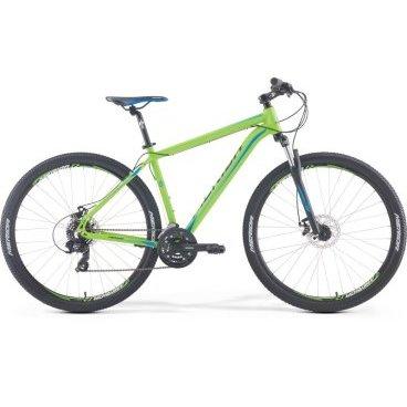 Горный велосипед Merida Big.Nine 10-MD 2017Горные (MTB)<br>Велосипед Merida Big.Nine 10-MD 2017. Велосипед оборудован алюминиевой рамой. Установленны вилка SR Suntour 29 M3030 75, Дисковые механические тормоза, а также начальное оборудование. Merida Big.Nine 10-MD 2017 прекрасно подойдёт для катания как в городе, так и по пересечённой местности.<br><br>Рама и амортизаторы<br><br>РамаBIG.NINE SPEED<br>ВилкаSR Suntour 29 M3030 75<br>Цепная передача<br><br>МанеткиShimano EF41 fire 3/7<br>Задний переключательShimano Tourney RD-TY300D<br>ШатуныSR Suntour XCC-T102 42-34-24T<br>КассетаShimano CS-HG200-7 12-32T<br>ЦепьKMC Z51<br>ПедалиPP pedal<br>Колеса<br><br>Диаметр29.0<br>ОбодаMerida double D<br>Спицыstainless silver<br>ВтулкаOV Alloy Disc / Cassette<br>ПокрышкаMerida 29 2.1<br>Компоненты<br><br>Передний тормозJAK-7 MD 160<br>Задний тормозJAK-7 MD 160<br>РульMerida Alloy Rise 660<br>ВыносMerida Comp OS 6<br>Рулевая колонкаEGG steel-B<br>СедлоMERIDA Sport<br>Подседельный штырьMERIDA comp SB0 27.2*350<br>РазработкаТайвань<br>ПроизводствоКНР (Тайвань)<br>