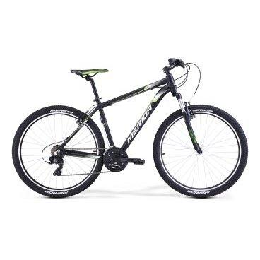 Горный велосипед Merida Big.Seven 5-V 2017Горные (MTB)<br>Велосипед Merida Big.Seven 5-V 2017. Модель оборудована алюминиевой рамой. Установленны вилка Merida CH-389 80, Ободные механические тормоза, а также начальное оборудование. Merida Big.Seven 5-V 2017 прекрасно подойдёт для катания как в городе, так и по пересечённой местности.<br><br>Рама и амортизаторы<br><br>РамаBIG.NINE SPEED<br>ВилкаMerida CH-389 80<br>Цепная передача<br><br>МанеткиShimano EF41 fire 3/7<br>Задний переключательShimano Tourney RD-TY300D<br>ШатуныSR Suntour XCC-T102 42-34-24T<br>КареткаCartridge bearing<br>КассетаShimano TZ-21 14-28T 7sp<br>ЦепьKMC Z51<br>ПедалиPP pedal<br>Колеса<br><br>Диаметр27.5<br>ОбодаMerida double V<br>СпицыSteel UCP<br>ВтулкаOV Alloy QR<br>ПокрышкаMerida 27.5 2.1<br>Компоненты<br><br>Передний тормозV-Brake Linear<br>Задний тормозV-Brake Linear<br>РульMerida Rise 660<br>ВыносMerida Comp OS 6<br>Рулевая колонкаEGG steel-B<br>СедлоMERIDA Sport<br>Подседельный штырьMERIDA comp 27.2<br>РазработкаТайвань<br>ПроизводствоКНР (Тайвань)<br>
