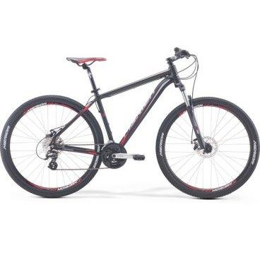 Горный велосипед Merida Big.Seven 15-MD 2017Горные (MTB)<br>Велосипед Merida Big.Seven 15-MD 2017. Модель оснащена алюминиевой рамой. Установленны Пружинно-эластомерная вилка SR Suntour 27 XCT 100, Дисковые механические тормоза, а также полупрофессиональное оборудование. Merida Big.Seven 15-MD 2017 прекрасно подойдёт для катания как в городе, так и по пересечённой местности.<br><br>Рама и амортизаторы<br><br>РамаBIG.SEVEN SPEED<br>ВилкаSR Suntour 27 XCT 100<br>Цепная передача<br><br>МанеткиShimano EZ fire / Shimano EZ fire 8<br>Задний переключательShimano Altus RD-M310 7/8sp<br>ШатуныShimano TY301 42-34-24T<br>КареткаCartridge bearing<br>КассетаSunrace CS8 11-32T 8sp<br>ЦепьKMC Z51<br>ПедалиPP pedal<br>Колеса<br><br>Диаметр27.5<br>ОбодаMerida double D<br>СпицыSteel UCP<br>ВтулкаOV Alloy Disc / Cassette<br>ПокрышкаMerida 27.5 2.1<br>Компоненты<br><br>Передний тормозJAK-7 MD 160<br>Задний тормозJAK-7 MD 160<br>РульMerida Alloy Rise 660<br>ВыносMerida Comp OS 6<br>Рулевая колонкаEGG steel-B<br>СедлоMERIDA Sport<br>Подседельный штырьMERIDA speed 27.2<br>РазработкаТайвань<br>ПроизводствоКНР (Тайвань)<br>