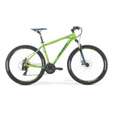 Горный велосипед Merida Big.Seven 10-MD 2017Горные (MTB)<br>Горный велосипед с оборудованием начального класса Shimano, 21 скорость. Технические особенности: алюминиевая рама Big.Seven Speed, амортизационная вилка SR Suntour 27 XCT 100, двойные обода Merida Double D, дисковые тормоза Promax MTD Mechanical. Подходит для активной езды по различным дорогам и пересеченной местности. Диаметр колес - 27,5 дюймов. Вес - 14 кг.<br><br><br>Рама и амортизаторы<br><br>РамаBIG.SEVEN SPEED<br>ВилкаSR Suntour 27 M3030 75<br>Цепная передача<br><br>МанеткиShimano EF41 fire 3/7<br>Задний переключательShimano Tourney RD-TY300D<br>ШатуныSR Suntour XCC-T102 42-34-24T<br>КареткаCartridge bearing<br>КассетаShimano CS-HG200-7 12-32T<br>ЦепьKMC Z51<br>ПедалиPP pedal<br>Колеса<br><br>Диаметр27.5<br>ОбодаMerida double D<br>СпицыSteel UCP<br>ВтулкаOV Alloy Disc / Cassette<br>ПокрышкаMerida 27.5 2.1<br>Компоненты<br><br>Передний тормозJAK-7 MD 160<br>Задний тормозJAK-7 MD 160<br>РульMerida Alloy Rise 660<br>ВыносMerida Comp OS 6<br>Рулевая колонкаEGG steel-B<br>СедлоMERIDA Sport<br>Подседельный штырьMERIDA speed 27.2<br>РазработкаТайвань<br>ПроизводствоКНР (Тайвань)<br>