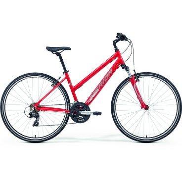 Кроссовый велосипед Merida Crossway 10-V Lady 2017Женские<br>Женский комфортабельный велосипед с оборудованием любительского класса Shimano, 21 скорость. Технические особенности: алюминиевая рама Crossway Speed Lady, амортизационная вилка SR Suntour 700 NEX 63, двойные обода Merida double V, надежные ободные тормоза V-Brake Linear. Подходит для прогулочной езды по шоссе и ровным проселочным дорогам. Диаметр колес - 28 дюймов. Вес - 13,85 кг.<br><br>Рама и амортизаторы<br><br>РамаCrossway DT-V<br>ВилкаSR NEX 63<br>Задний амортизатор0<br>Цепная передача<br><br>МанеткиShimano EF41 fire 7<br>Передний переключательShimano TY 7s 48<br>Задний переключательShimano Altus 8<br>КареткаCartridge Bearing<br>КассетаShimano MF-TZ21 14-28<br>Количество скоростей21<br>Цепьchain 7s<br>ПедалиPP pedal<br>Колеса<br><br>ОбодаMerida V<br>Спицыucp steel<br>ВтулкаOV alloy<br>ПокрышкаCross 700 40C<br>Компоненты<br><br>Передний тормозV-Brake Linear<br>Задний тормозV-Brake Linear<br>ГрипсыMERIDA kraton<br>РульMerida Steel 660 R30<br>Рулевая колонкаThread set<br>СедлоCross lady<br>Подседельный штырьSuspension 27.2<br>РазработкаТайвань<br>ПроизводствоКНР (Тайвань)<br>