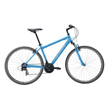 Кроссовый велосипед Merida Crossway 5-V 2017Городские<br>Велосипед Merida Crossway 5-V 2017. Велосипед оснащён алюминиевой рамой. Установленны Пружинно-эластомерная вилка Merida CH-189 63, Ободные механические тормоза, а также начальное оборудование. Merida Crossway 5-V 2017 очень удобен для перемещений по городским улицам и велопрогулок в парках.<br><br><br>Рама и амортизаторы<br><br>РамаCROSSWAY DT<br>ВилкаMerida CH-189 63<br>Цепная передача<br><br>МанеткиSRAM MRX 3/7<br>Задний переключательShimano Tourney RD-TY300D<br>ШатуныProwheel 48-38-28T<br>КареткаCartridge bearing<br>КассетаShimano TZ-21 14-28T 7sp<br>ЦепьKMC Z51<br>ПедалиPP pedal<br>Колеса<br><br>Диаметр28.0<br>ОбодаMerida double V<br>СпицыSteel UCP<br>ВтулкаOV Alloy QR<br>ПокрышкаMerida 700 40C<br>Компоненты<br><br>Передний тормозV-Brake Linear<br>Задний тормозV-Brake Linear<br>РульMerida Rise 660<br>ВыносAdjustable Quill stem<br>Рулевая колонкаQuill Headset<br>СедлоCross Sport<br>Подседельный штырьMERIDA speed 27.2<br>РазработкаТайвань<br>ПроизводствоКНР (Тайвань)<br>