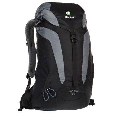 Велорюкзак Deuter AC Lite 18, для женщин, 54x30x18, 18 л, черный, 3420116_7490Велорюкзаки<br>Женский туристический рюкзак<br><br>-Петли для трекинговых палок<br>-Мягкие крылья пояса (22 SL &amp; 26)<br>-Система Aircomfort<br>-мягкие лямки анатомической формы<br>-Карман в клапане<br>-Внутренние карманы на молниях<br>-Практичный замок на клапане<br>-Светоотражающий принт<br>-Боковые эластичные карманы<br>-Совместимость с питьевой системой<br>-Интегрированный, съемный чехол от дождя<br>-Светоотражатель на фиксаторе питьевой трубки<br>-Материал: Macro Lite 210<br>-Вес: 880 g<br>-Объем: 18 l<br>-Размеры: 54 x 30 x 18 см<br>