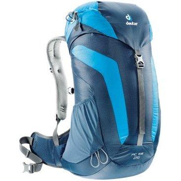 Велорюкзак Deuter AC Lite 26 SL, для женщин, 58x32x20, 26 л, синий, 3420316_3306Велорюкзаки<br>Женский рюкзак для пеших прогулок<br><br>-Петли для трекинговых палок<br>-Мягкие крылья пояса (22 SL &amp; 26)<br>-Система Aircomfort<br>-мягкие лямки анатомической формы<br>-Карман в клапане<br>-Внутренние карманы на молниях<br>-Практичный замок на клапане<br>-Светоотражающий принт<br>-Боковые эластичные карманы<br>-Совместимость с питьевой системой<br>-Интегрированный, съемный чехол от дождя<br>-Светоотражатель на фиксаторе питьевой трубки<br>-Материал: Macro Lite 210<br>-Вес: 960 g<br>-Объем: 26 l<br>-Размеры:58 x 32 x 20 см<br>