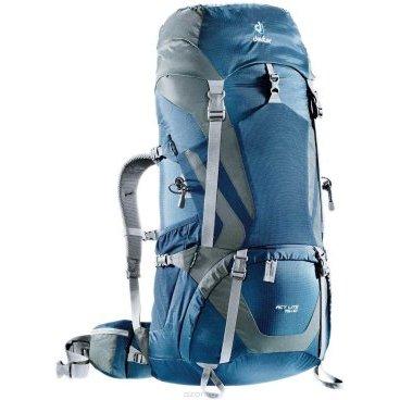 Велорюкзак Deuter ACT Lite 75+10, алюминиевый каркас, 92х36х40, 75+10 л, синий, 4340315_3473Велорюкзаки<br>Надежный вместительный рюкзак для путешествий и экспедиций: Совершенная подвеска с комфортной спинкой, прямой доступ в основное отделение – сочетание комфорта и функциональности. Благодаря подвижным набедренным крыльям Vari Flex, системе спинки Vari Quick и каркасу X-Frames, одна и та же система подвески подходит к любым грузам от средних до тяжёлых, оставаясь устойчивой, гибкой и эффективно распределяющей нагрузку. Система Aircontact с продуманной эргономичной системой подушек спинки очень хорошо сидит на спине и обеспечивает отличную вентиляцию со всех сторон.<br><br>• экономия энергии и комфорт, благодаря анатомическому подвижному набедренному поясу Vari Flex, отслеживающему любое ваше движение<br>• компрессионные ремни на набедренных крыльях для точной регулировки положения груза<br>• поясная застёжка Pull-Forward легко регулируется даже под тяжёлым грузом<br>• прочный сотовый алюминиевый X-образный каркас передает нагрузку на набедренный пояс<br>• благодаря специальному покрою верхней части рюкзака и возможности регулировать положение верхнего клапана, обеспечивается свободное движение головы<br>• три боковых компрессионных ремня<br>• боковые карманы со складками, питьевая система» карман на молнии в набедренном поясе<br>• карман в верхнем клапане<br>• большой внутренний карман на молнии<br>• две цепочки петель daisy chain для навески снаряжения<br>• петли на верхнем клапане для крепления дополнительных грузов<br>• петля для ледоруба<br>• боковые карманы для стоек палатки<br>• двухслойное дно<br>• карманы на молнии для карт сбоку<br>• Вес: 2100 г.<br>• Объем: 75 + 10 л<br>• Размер: 92 / 36 / 40 см<br>