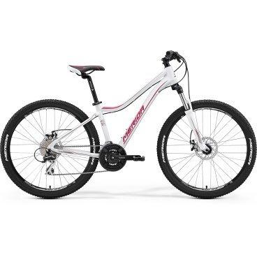 Горный велосипед Merida Juliet 6.20-MD 2017Горные (MTB)<br>Женский горный велосипед с оборудованием любительского класса Shimano, 24 скорости. Технические особенности: алюминиевая рама Juliet Speed 6, амортизационная вилка SR Suntour 26 XCT-HLO, двойные обода Merida Juliet D, дисковые тормоза Promax MTD Mechanical. Подходит для активной езды по различным дорогам и пересеченной местности. Диаметр колес - 26 дюймов. Вес - 14,3 кг.<br><br><br>Рама и амортизаторы<br><br>РамаJuliet Speed 6<br>ВилкаSR 26 XCT-HLO 100<br>Задний амортизатор0<br>Цепная передача<br><br>МанеткиShimano EZ fire 8<br>Передний переключательShimano TY 8s 42<br>Задний переключательShimano Acera-X 8<br>КареткаCartridge Bearing<br>КассетаSunrace CS8 11-32<br>Количество скоростей24<br>ЦепьChain 8s<br>ПедалиComfort double<br>Колеса<br><br>Диаметр26.0<br>ОбодаMerida Juliet D<br>Спицыucp steel<br>ВтулкаAlloy Disc<br>ПокрышкаMerida 26 1.95<br>Компоненты<br><br>Передний тормозPromax MTD Mechanical 160<br>Задний тормозPromax MTD Mechanical 160<br>ГрипсыMERIDA kraton<br>РульMerida Speed R30 620<br>Рулевая колонкаEGG steel-B<br>СедлоJuliet Sport<br>Подседельный штырьMERIDA speed 27.2<br>РазработкаТайвань<br>ПроизводствоКНР (Тайвань)<br>