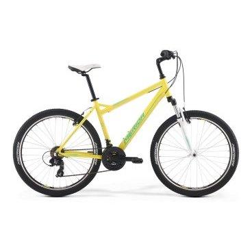 Горный велосипед Merida Juliet 6.5-V 2017Горные (MTB)<br>Велосипед Merida Juliet 6.5-V 2017. Модель оборудована алюминиевой рамой. Установленны вилка Merida CH-389 80, Ободные механические тормоза, а также начальное оборудование. Merida Juliet 6.5-V 2017 прекрасно подойдёт для катания как в городе, так и по пересечённой местности.<br><br>Рама и амортизаторы<br><br><br>РамаJULIET SPEED-V<br>ВилкаMerida CH-389 80<br>Цепная передача<br><br><br>МанеткиSRAM MRX 3spd / SRAM MRX 7spd<br>Задний переключательShimano Tourney RD-TY300D<br>ШатуныProwheel 42-34-24T<br>КареткаCartridge bearing<br>КассетаShimano TZ-21 14-28T 7sp<br>ЦепьKMC Z51<br>ПедалиPP pedal<br>Колеса<br><br><br>Диаметр26.0<br>ОбодаMerida double V<br>СпицыSteel UCP<br>ВтулкаOV Alloy QR<br>ПокрышкаMerida 26 2.1<br>Компоненты<br><br><br>Передний тормозV-Brake Linear / V-Brake Linear<br>Задний тормозV-Brake Linear / V-Brake Linear<br>РульMerida Rise 620<br>ВыносAdjustable Stem<br>Рулевая колонкаQuill Headset<br>СедлоJuliet Sport<br>Подседельный штырьMERIDA speed 27.2*350<br>РазработкаТайвань<br>ПроизводствоКНР (Тайвань)<br>