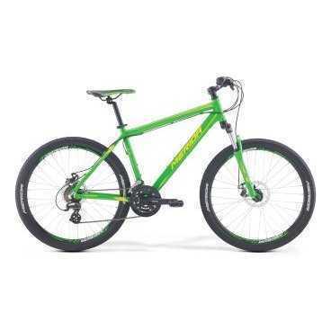 Горный велосипед Merida Matts 6.10-MD 2017Горные (MTB)<br>Велосипед Merida Matts 6.10-MD 2017. Модель оснащена алюминиевой рамой. Установленны Пружинно-эластомерная вилка SR Suntour M3030 75, Дисковые механические тормоза, а также полупрофессиональное оборудование. Merida Matts 6.10-MD 2017 прекрасно подойдёт для катания как в городе, так и по пересечённой местности.<br><br>Рама и амортизаторы<br><br>РамаMATTS DT<br>ВилкаSR Suntour M3030 75<br>Цепная передача<br><br>МанеткиShimano EF41 fire 3/7<br>Задний переключательShimano Altus RD-M310<br>ШатуныSR Suntour XCC-T102 42-34-24T<br>КассетаShimano TZ-21 14-28T 7sp<br>ЦепьKMC Z51<br>ПедалиPP pedal<br>Колеса<br><br>Диаметр26.0<br>ОбодаMerida double D<br>СпицыSteel UCP<br>ВтулкаOV Alloy Disc / Cassette<br>ПокрышкаMerida 26 2.1<br>Компоненты<br><br>Передний тормозJAK-7 MD 160<br>Задний тормозJAK-7 MD 160<br>РульMerida Rise 620<br>ВыносMerida Ahead alloy 15<br>Рулевая колонкаEGG steel-B<br>СедлоMERIDA Sport<br>Подседельный штырьMERIDA speed 27.2<br>РазработкаТайвань<br>ПроизводствоКНР (Тайвань)<br>